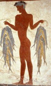 Фреска из археологического музея Тиры