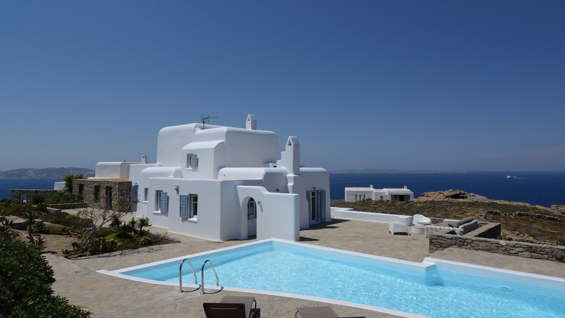 Villa on Mykonos island