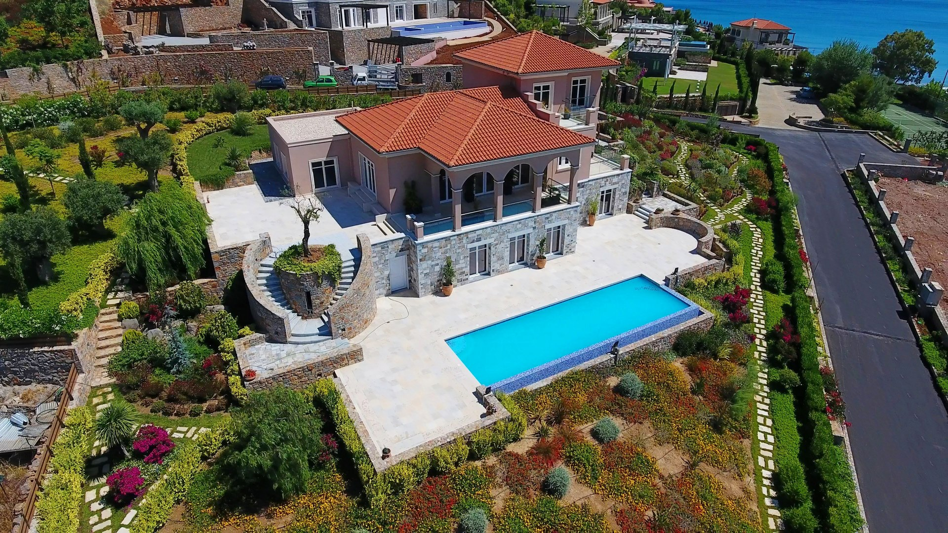 Villa on the island Crete