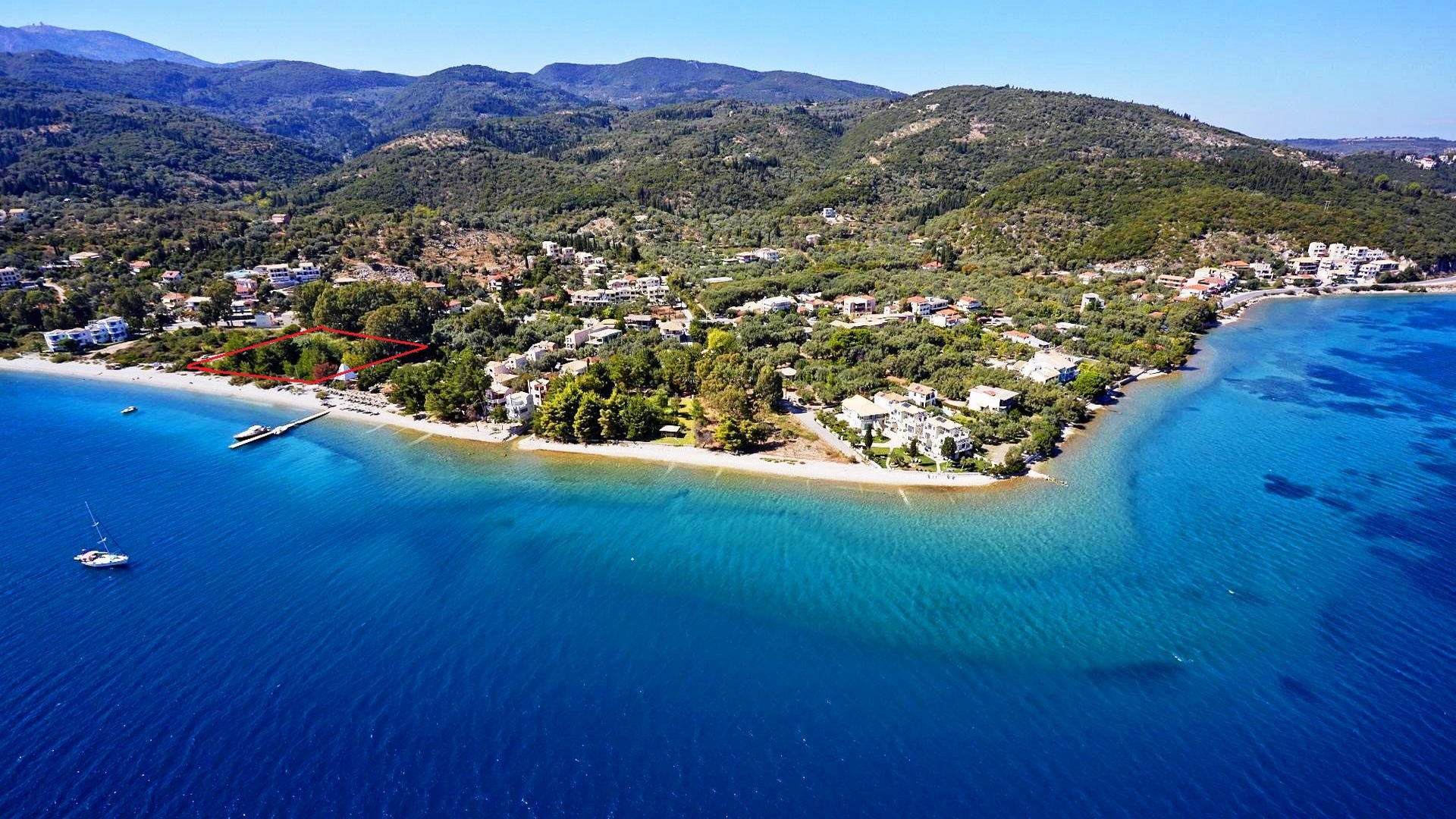 Land plot on Lefkada island